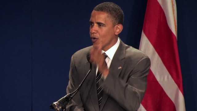 stockvideo's en b-roll-footage met senator barack obama giving speech about essence of american dream at league of united latin american citizens convention during campaign for... - 2008