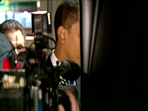 senator barack obama on campaign trail securing support as democratic nominee for us presidency usa; 2008 - 2008 stock videos & royalty-free footage