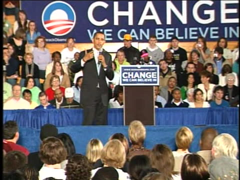 senator barack obama talks about his stand on abortion while campaigning at the community college in monaca, pennsylvania. - community college stock videos & royalty-free footage