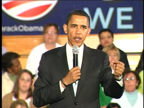 senator barack obama talks about his stand on abortion while campaigning at the community college in monaca, pennsylvania. - 2008 stock videos & royalty-free footage