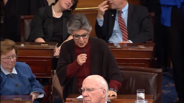 senator barbara boxer speaks in support of the usa freedom act a bill which entered into a fight over electronic surveillance by the national... - national security agency usa stock videos and b-roll footage