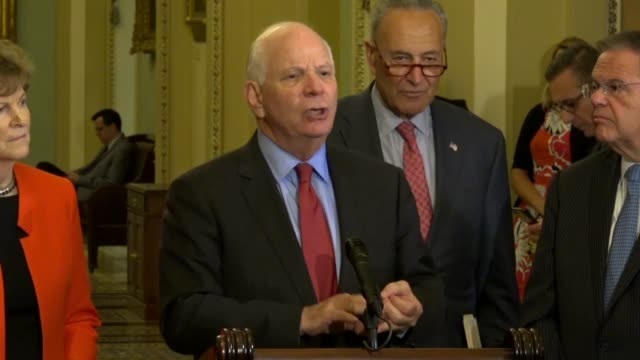 Senator Ben Cardin of Maryland says at weekly press briefing a day after Donald Trump met with Vladimir Putin that Senate Foreign Relations Democrats...