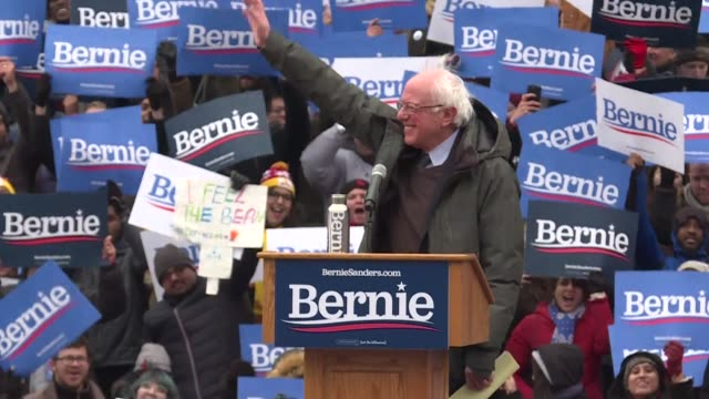 us senator bernie sanders delivers the first rally speech of his presidential campaign in brooklyn where he was born vowing to defeat the most... - sander stock videos & royalty-free footage