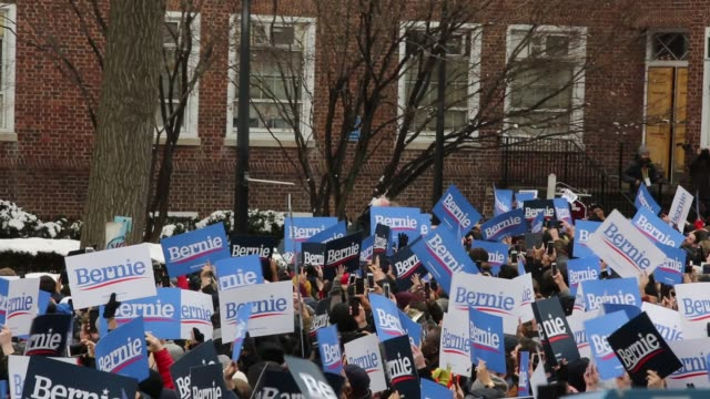 Senator Bernie Sanders Holds his first presidential campaign rally at Brooklyn College on March 02 2019 in the Brooklyn New York