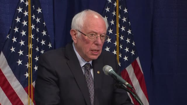 senator bernie sanders vows to stay in the democratic primary contest after a poor showing in michigan - vermont stock videos & royalty-free footage