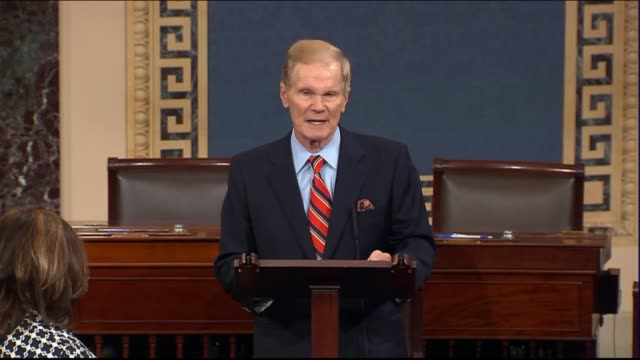 vídeos y material grabado en eventos de stock de senator bill nelson explains the desperation of his state as the most powerful recorded storm in the atlantic basin passed over puerto rico in route... - senador