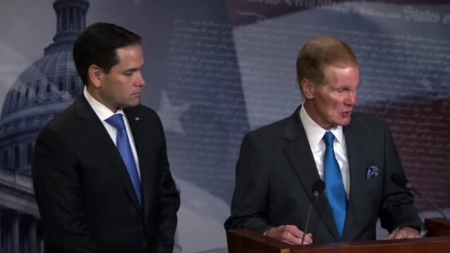 Senator Bill Nelson says at a news conference with his Florida counterpart Marco Rubio that he was grateful Rubio participated in a CNN town hall on...
