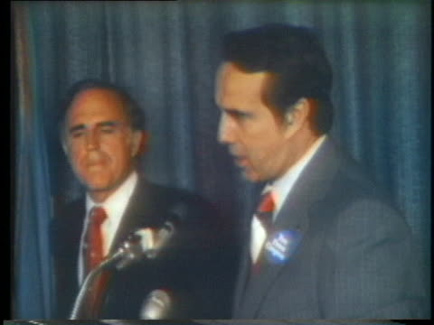 us senator bob dole voices his support of presidential candidate gerald ford - (war or terrorism or election or government or illness or news event or speech or politics or politician or conflict or military or extreme weather or business or economy) and not usa stock videos & royalty-free footage