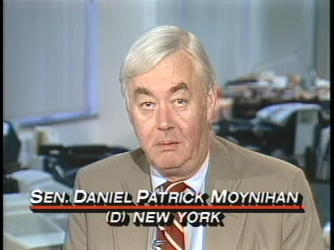 senator daniel patrick moynihan says that the us isn't delaying the plan to have kuwaiti tankers fly us flags because the us doesn't really have such... - united states and (politics or government) stock videos & royalty-free footage