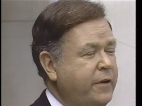 senator david boren of oklahoma says congressional support for contra aid is growing. - ニカラグア点の映像素材/bロール