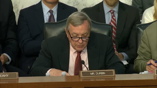 senator dick durbin of illinois questions fbi director christopher wray at the senate judiciary committee in a hearing on the doj and fbi actions in... - christopher a. wray stock videos & royalty-free footage