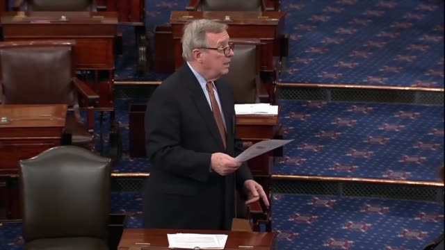 senator dick durbin says immigration opponents say they take american jobs and commit to many crimes but listening to the recent state of the union... - dick durbin stock videos & royalty-free footage