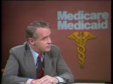 senator dr thomas eagleton discusses the necessity of medicare and medicaid for those who cannot afford health care expenses - imperfection stock videos & royalty-free footage