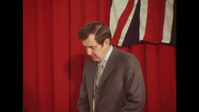 senator edmund muskie makes a speech on the my lai massacre during an official visit to london - war crimes trial stock videos & royalty-free footage