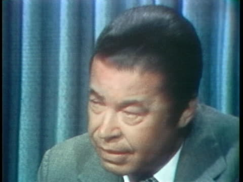senator edward brooke says a message was delivered from the congress to president richard nixon indicating the strong sentiment that he should step... - resignation of richard nixon stock videos & royalty-free footage