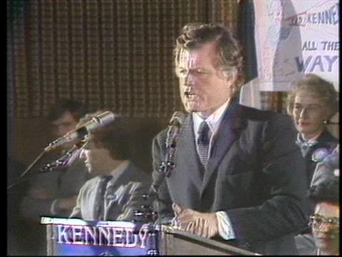 senator edward kennedy applauds president jimmy carter's decision to cut off iranian oil. - 有事点の映像素材/bロール