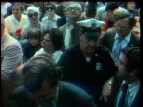 senator edward kennedy makes his way through a group of anti-busing demonstrators in boston. - boston massachusetts stock videos & royalty-free footage