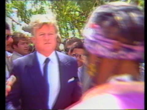 Senator Edward Kennedy meets Winnie Mandela in 1985