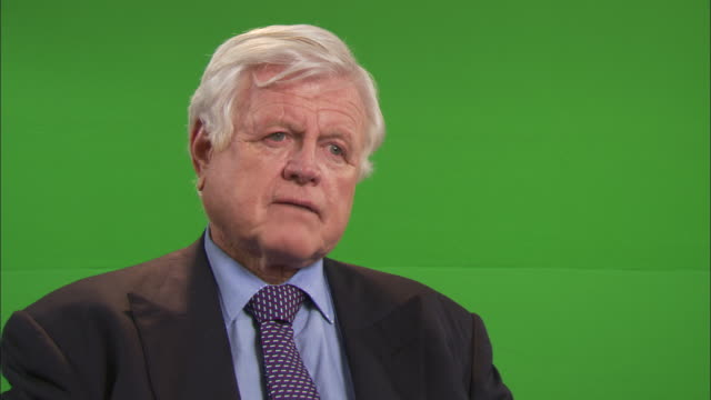 interview senator edward kennedy on playing football at harvard and how it may relate to where he got his political philosophy on november 1st 2003 - philosophy stock videos & royalty-free footage