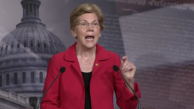 senator elizabeth warren of massachusetts tells reporters at a news conference that forcing thousands of people out of their homes during a pandemic... - paying rent stock videos & royalty-free footage