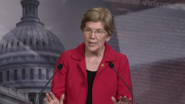senator elizabeth warren of massachusetts tells reporters at a news conference that experts were predicting an avalanche of evictions during the... - paying rent stock videos & royalty-free footage