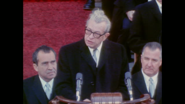 senator everett dirksen introduces reverend charles ewbank tucker - tucker stock videos & royalty-free footage