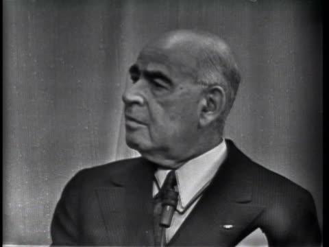 stockvideo's en b-roll-footage met senator herbert h. lehman speaks of the democratic party's loss of support for its lack of leadership in civil rights. - 1957