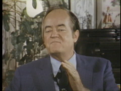 senator hubert humphrey discusses primary elections and denounces the politics of petulance. - united states and (politics or government) stock videos & royalty-free footage