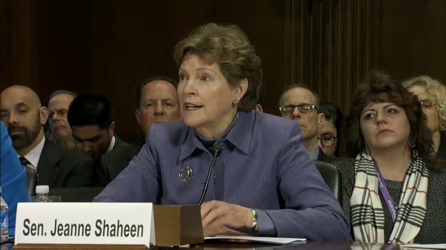 senator jeanne shaheen of new hampshire tells the senate judiciary committee at the air with these epidemic is actually a pandemic affecting all age... - substance abuse stock videos and b-roll footage