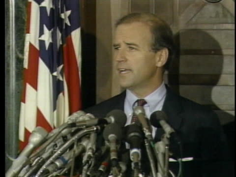 senator joe biden withdraws from the 1988 presidential race. - senator stock videos & royalty-free footage