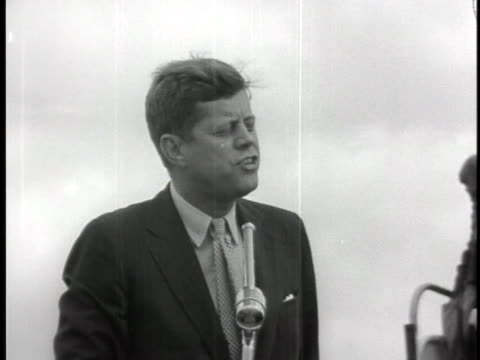 senator john f. kennedy, jr., criticizes republican foreign policy for neglecting to keep countries from changing to communism. - cuba stock videos & royalty-free footage