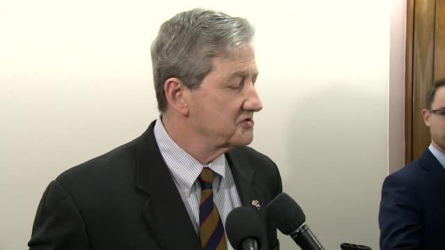 us senator john kennedy comments on the khashoggi murder and the crown princeõs involvement in the murder on november 29 2018 in washington dc - crown prince stock videos & royalty-free footage