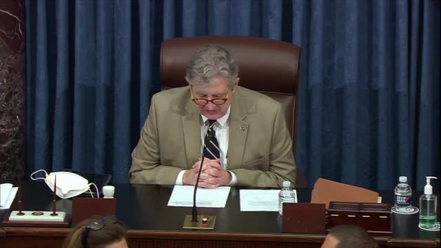 senator john kennedy of louisiana presiding, a motion made by the minority leader having been seconded the senate we go into closed session, kennedy... - sergeant stock videos & royalty-free footage