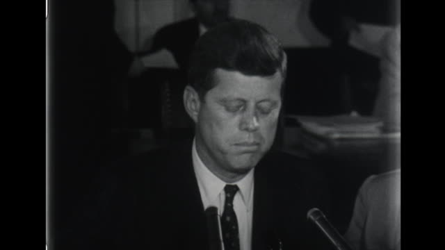 senator john kennedy speaks about republican opposition to civil rights legislation - john f. kennedy politik stock-videos und b-roll-filmmaterial