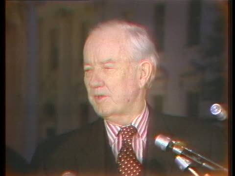 senator john sparkman speaks about president gerald ford's request that congress consider his program and give him some legislation in 1975. - request stock videos & royalty-free footage