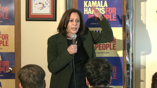 senator kamala harris remarks on mental health during a town hall event in knoxville, iowa. - healthcare and medicine or illness or food and drink or fitness or exercise or wellbeing stock videos & royalty-free footage