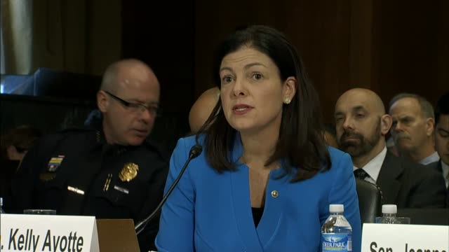 senator kelly ayotte tells the senate judiciary committee that as a former attorney general of her state of new hampshire she appreciates that... - prescription drug abuse stock videos & royalty-free footage