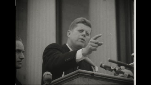 senator kennedy on the campaign trail speaks about nixon and the future of the us - 1960 stock videos & royalty-free footage