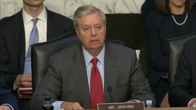 Senator Lindsey Graham of South Carolina opens a hearing with former acting Attorney General Sally Yates and former Director of National Intelligence...