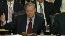Senator Lindsey Graham of South Carolina questions DOJ Inspector    Stock  Footage Video