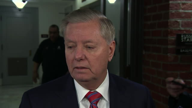 senator lindsey graham remarks on the request for witnesses during the senate impeachment trial of president donald trump. - request stock videos & royalty-free footage