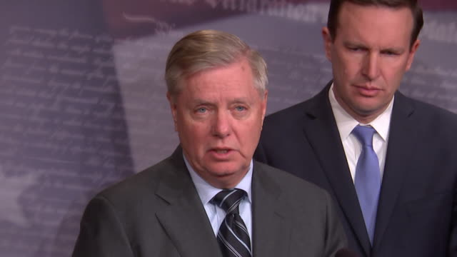 us senator lindsey graham remarks on the us senate relationship with saudi arabia and the crown prince during a press conference on december 12 2018... - crown prince stock videos & royalty-free footage
