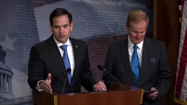 Senator Marco Rubio says at a news conference with his Florida counterpart that in the aftermath of a mass shooting in Parkland that hits off for...