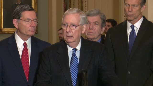 senator mcconnell explains three ways that an impeachment trial might proceed at a weekly news conference, that he and minority leader chuck schumer... - persuasion stock videos & royalty-free footage