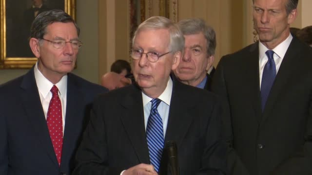 senator mcconnell tells reporters at a weekly press conference it was impossible to answer a question about motions possibly made in a senate... - serene people stock videos & royalty-free footage