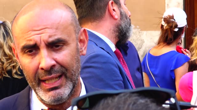 """senator of lega political party simone pillon speaks to the media during a demonstration called """"restiamo liberi"""" against a proposal for a new law... - law video stock e b–roll"""