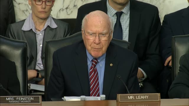 Senator Patrick Leahy of Vermont says at a Senate Judiciary Committee hearing on the DOJ and FBI actions in advance of the 2016 presidential election...