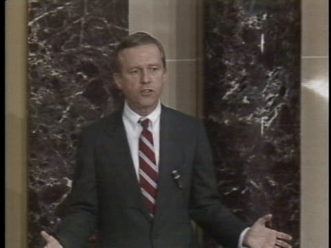 senator pete wilson states that the international drug trafficking problem is chemical warfare against america's youth - (war or terrorism or election or government or illness or news event or speech or politics or politician or conflict or military or extreme weather or business or economy) and not usa stock videos & royalty-free footage