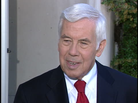 us senator richard lugar speaks out about international security and the war on terrorism - (war or terrorism or election or government or illness or news event or speech or politics or politician or conflict or military or extreme weather or business or economy) and not usa video stock e b–roll