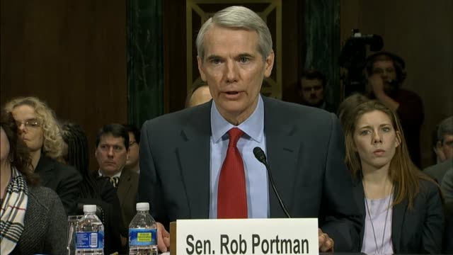 senator rob portman of ohio describes bipartisan legislation he is working with colleagues to comprehensively deal with heroin and what he calls the... - prescription drug abuse stock videos & royalty-free footage